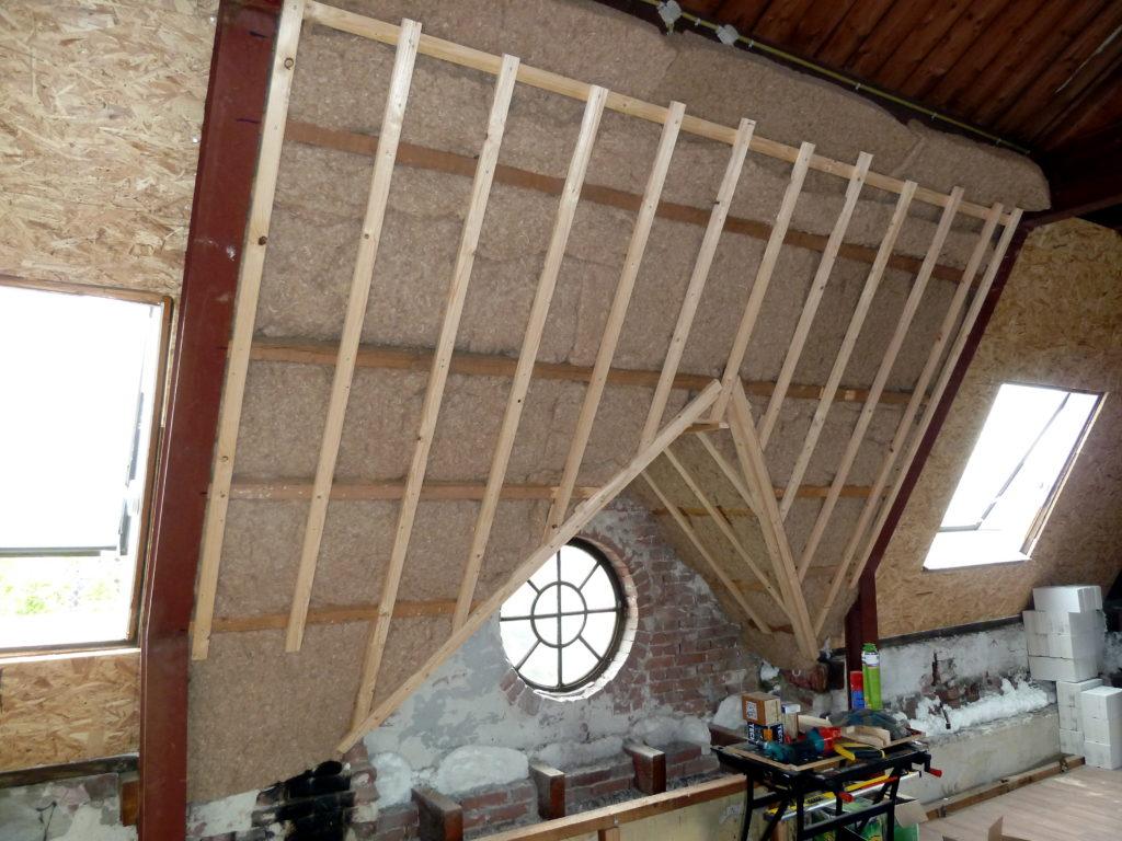 eerste stuk dak geïsoleerd